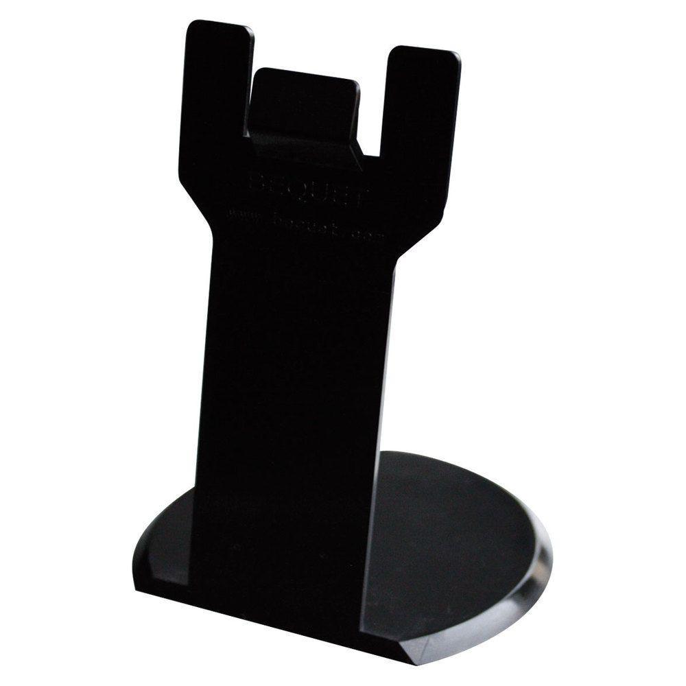 Pied porte-étiquette hauteur 8cm noir par 25