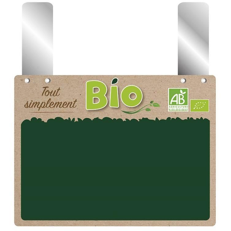 Etiquette grandes pattes 'SIMPLEMENT BIO' 15x11cm par 10