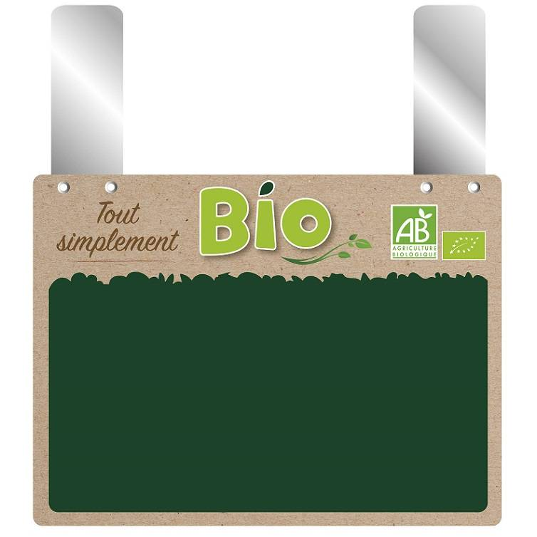 Etiquette grandes pattes 'SIMPLEMENT BIO' 20x15cm par 10
