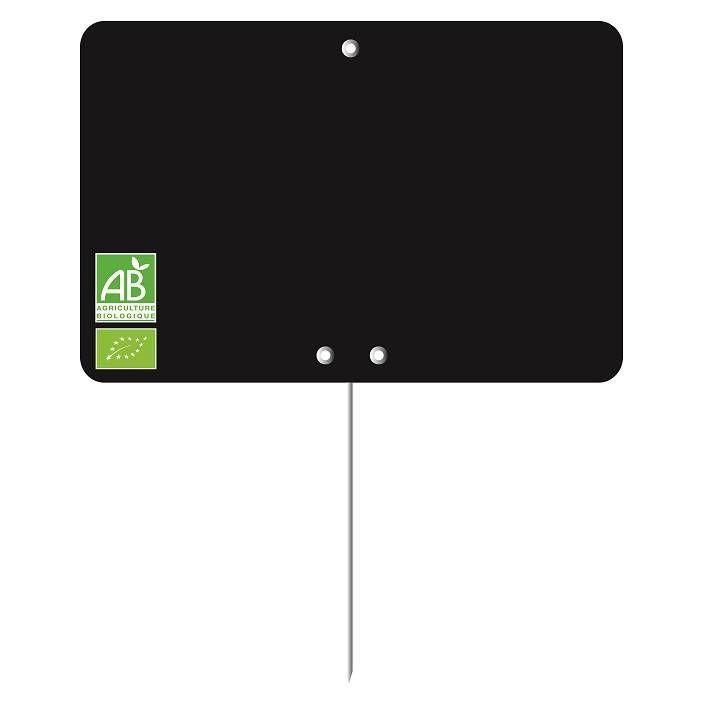 Etiquette à roulettes pique-inox 'LOGO AB' 12x8cm par 10
