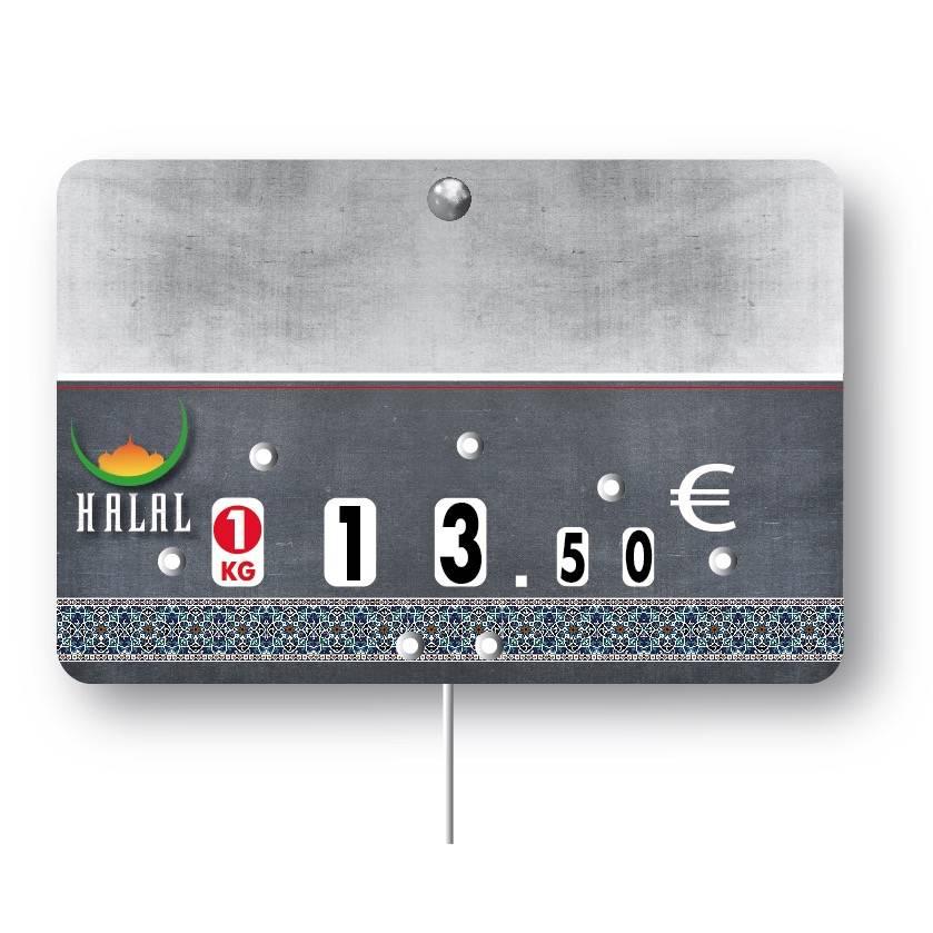Etiquette à roulettes pique-inox option disc-info 'HARISSA' 12x8cm par 10