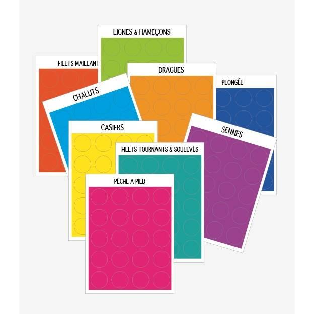 Etiquette adhésive en plastique adhésif Pastille colorées diamètre 1,6cm par 360