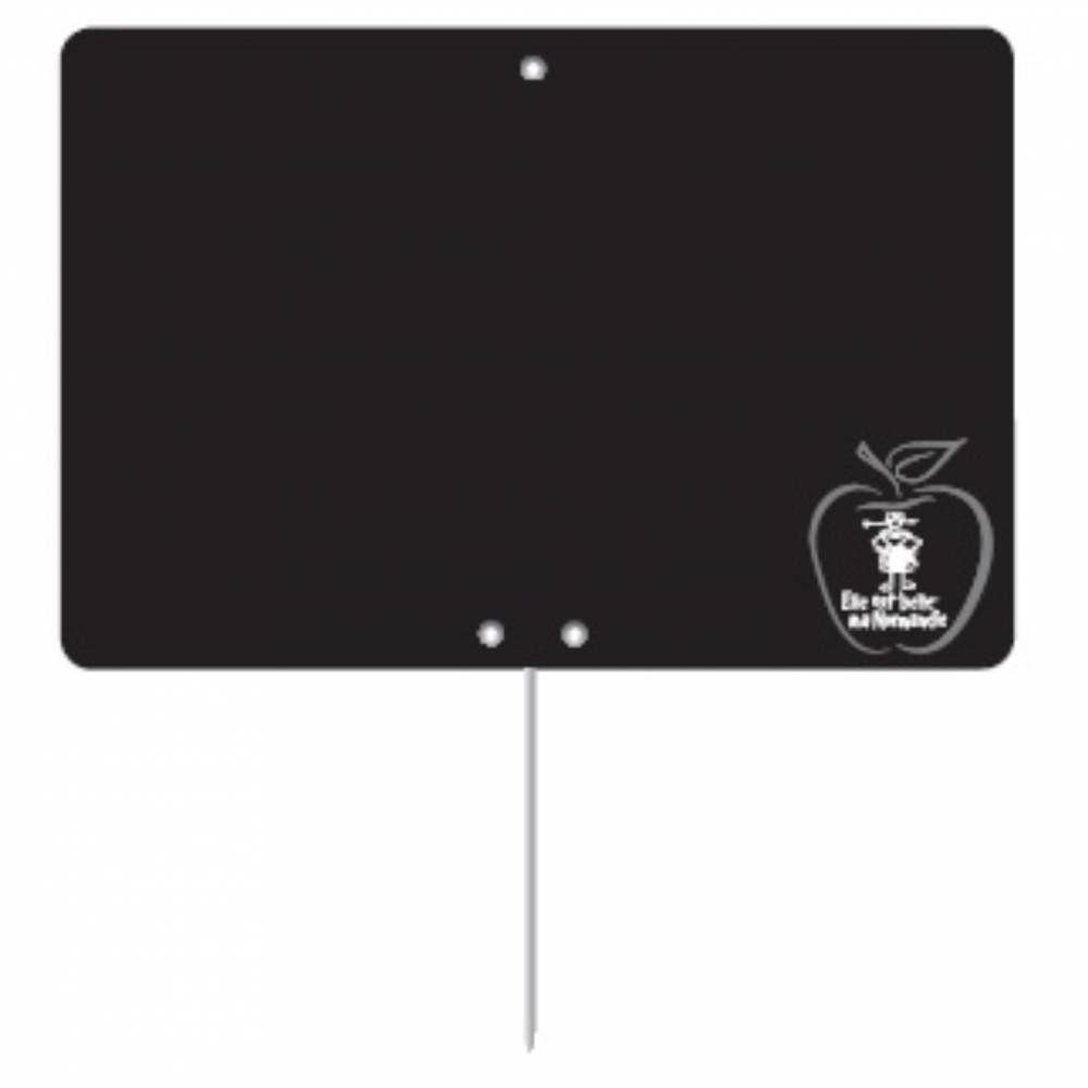 Etiquette ardoisée pique-inox 'REGION' Normandie noir 6x8cm par 10