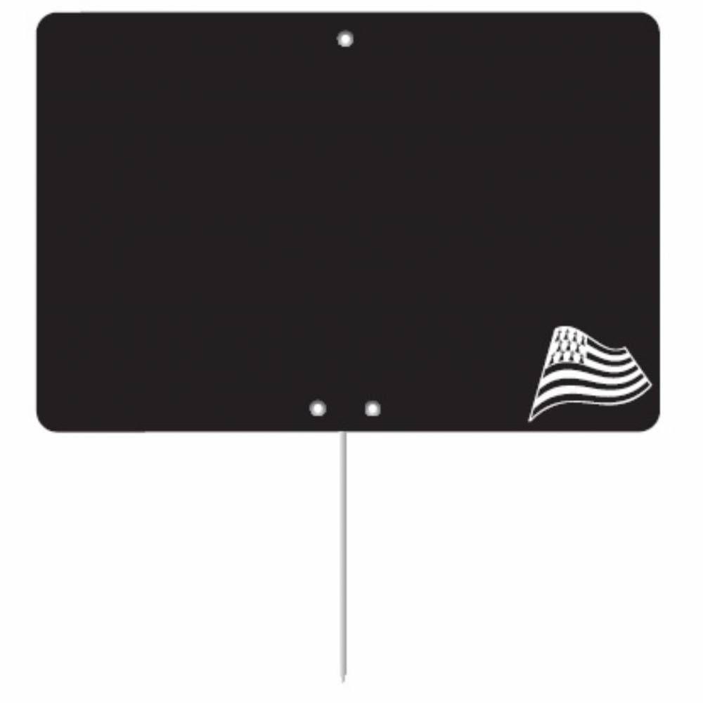 Etiquette ardoisée pique-inox 'REGION' Bretagne noir 12x8cm par 10