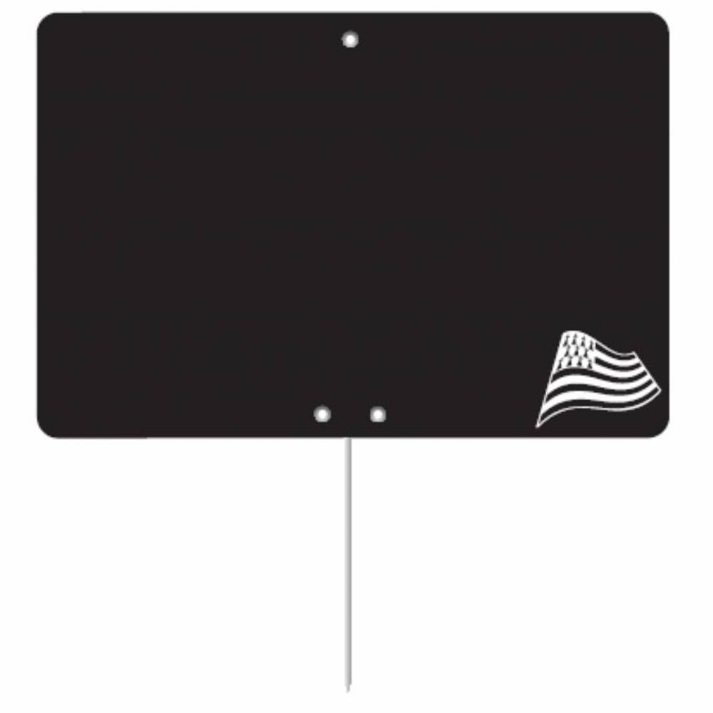 Etiquette ardoisée pique-inox 'REGION' Bretagne noir 15x10cm par 10