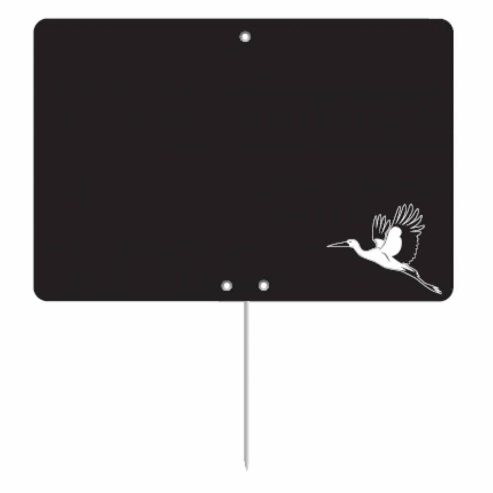 Etiquette ardoisée pique-inox 'REGION' Alsace noir 8x6cm par 10
