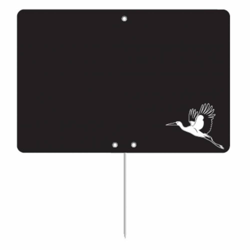 Etiquette ardoisée pique-inox 'REGION' Alsace noir 12x8cm par 10