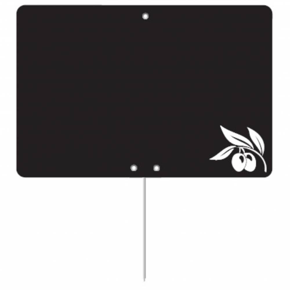 Etiquette ardoisée pique-inox 'REGION' Provence noir 8x6cm par 10