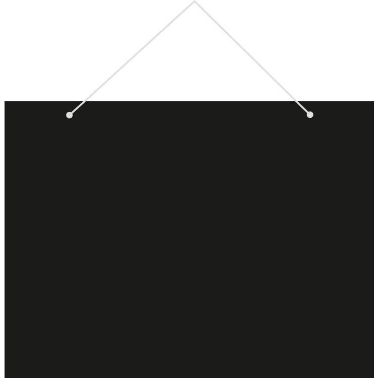 Ardoise murale 'NEUTRE' noir 20x15cm par 3