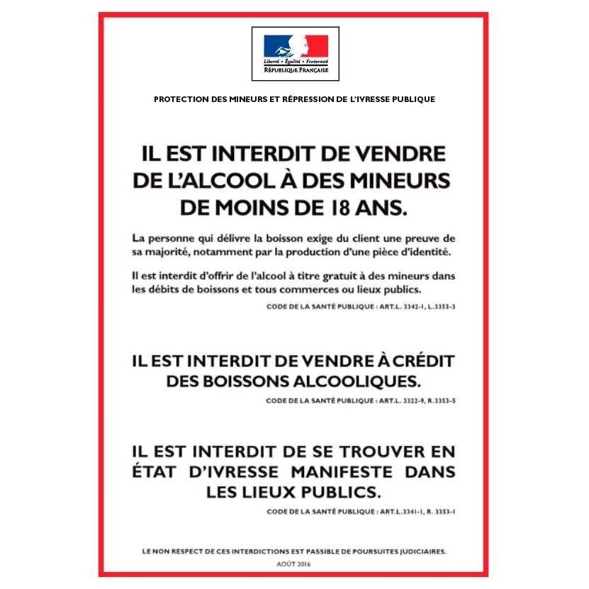 Pancarte adhésif 'AFFICHAGE OBLIGATOIRE' à emporter blanc 14,85x21cm à l'unité