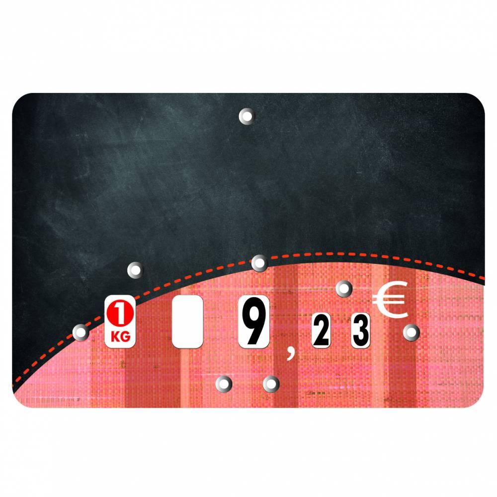 Etiquette à roulettes pique-inox 'TONIO' noir 10,5x7cm par 10
