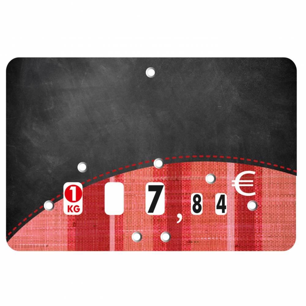 Etiquette à roulettes pique-inox 'TONIO' noir 12x8cm par 10