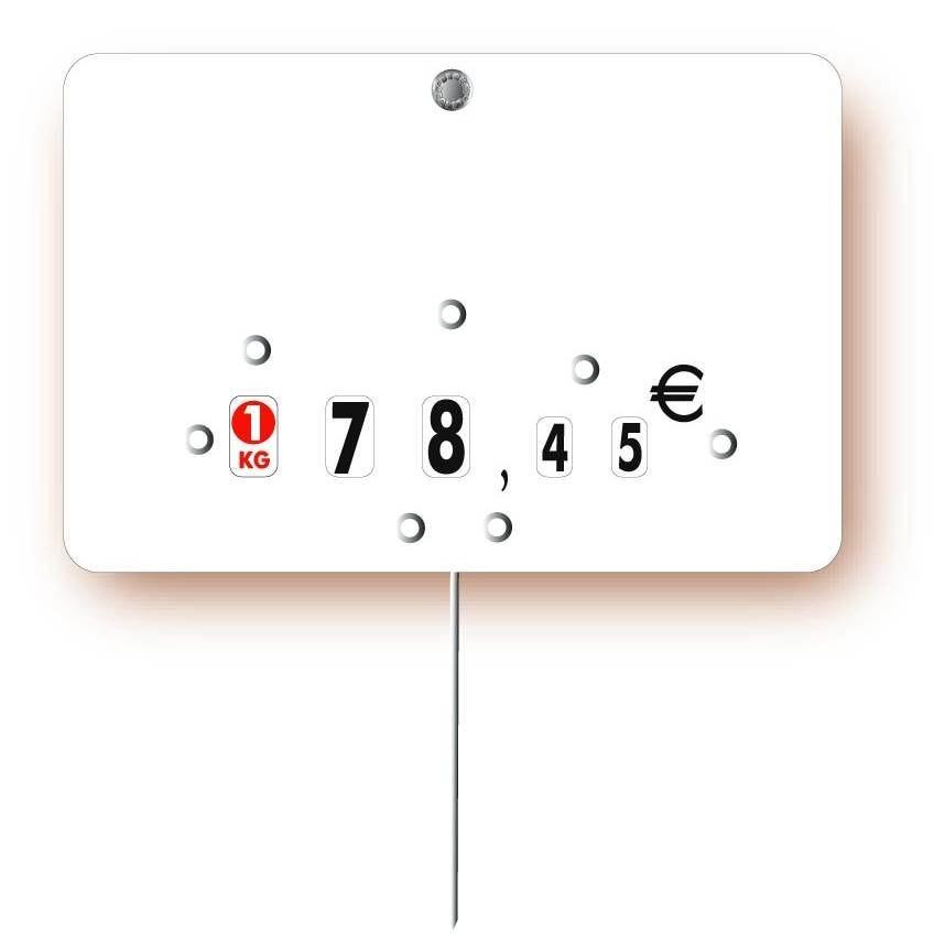 Etiquette à roulettes pique-inox 'NEUTRE' blanc 12x8cm par 10