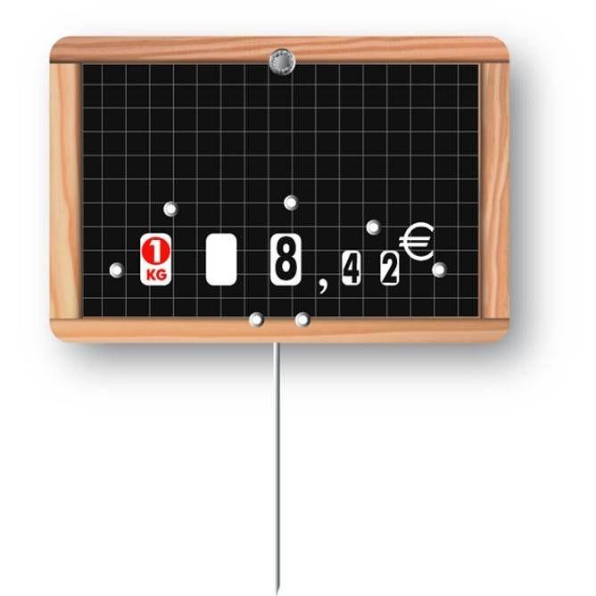 Etiquette à roulettes pique-inox 'ECOLIERE' 12x8cm par 10