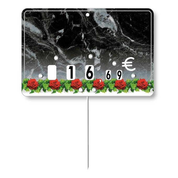 Etiquette à roulettes pique-inox 'GUIRLANDE' 10,5x7cm par 10