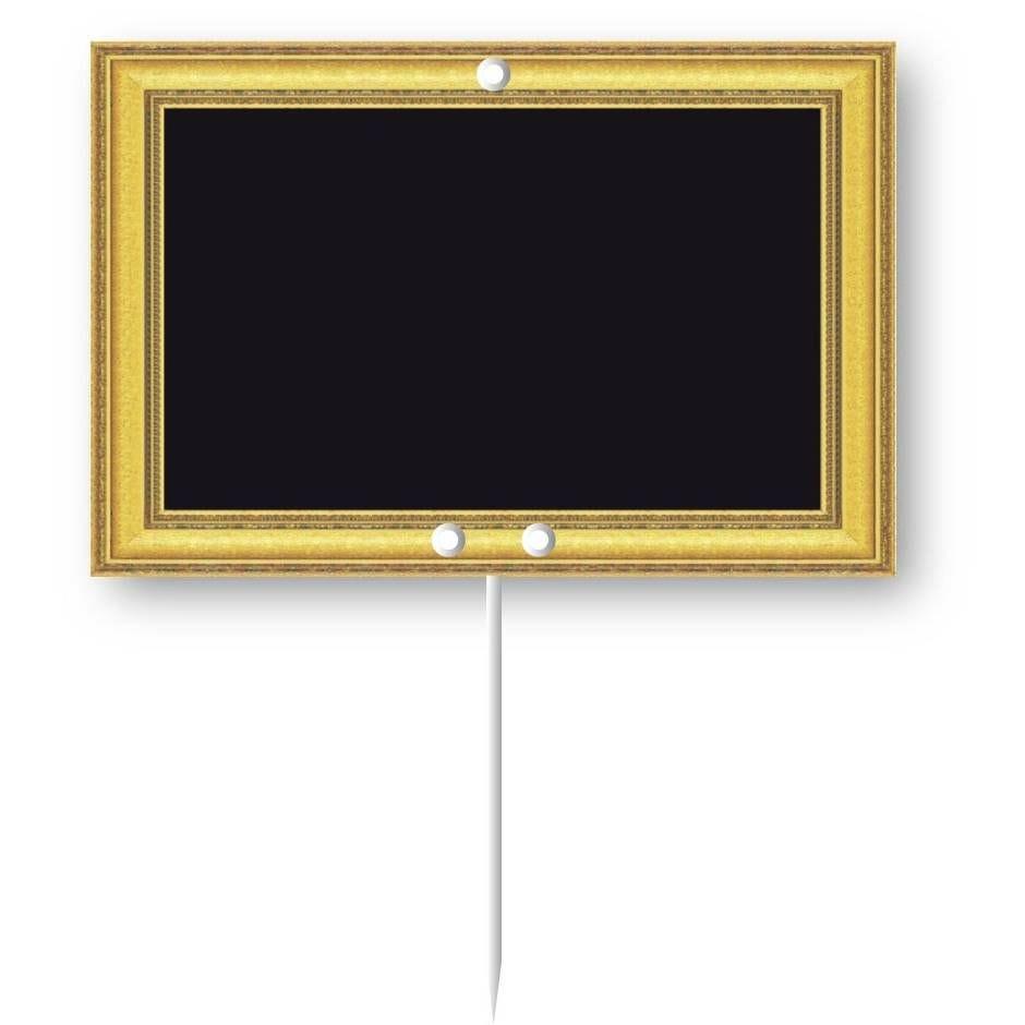 Etiquette pique-inox 'ORNEMENT' 10,5x7cm par 10