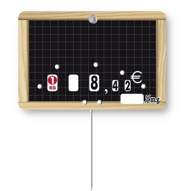 Etiquette à roulette pique-inox 'ECOLIERE' 10,5x7cm par 10