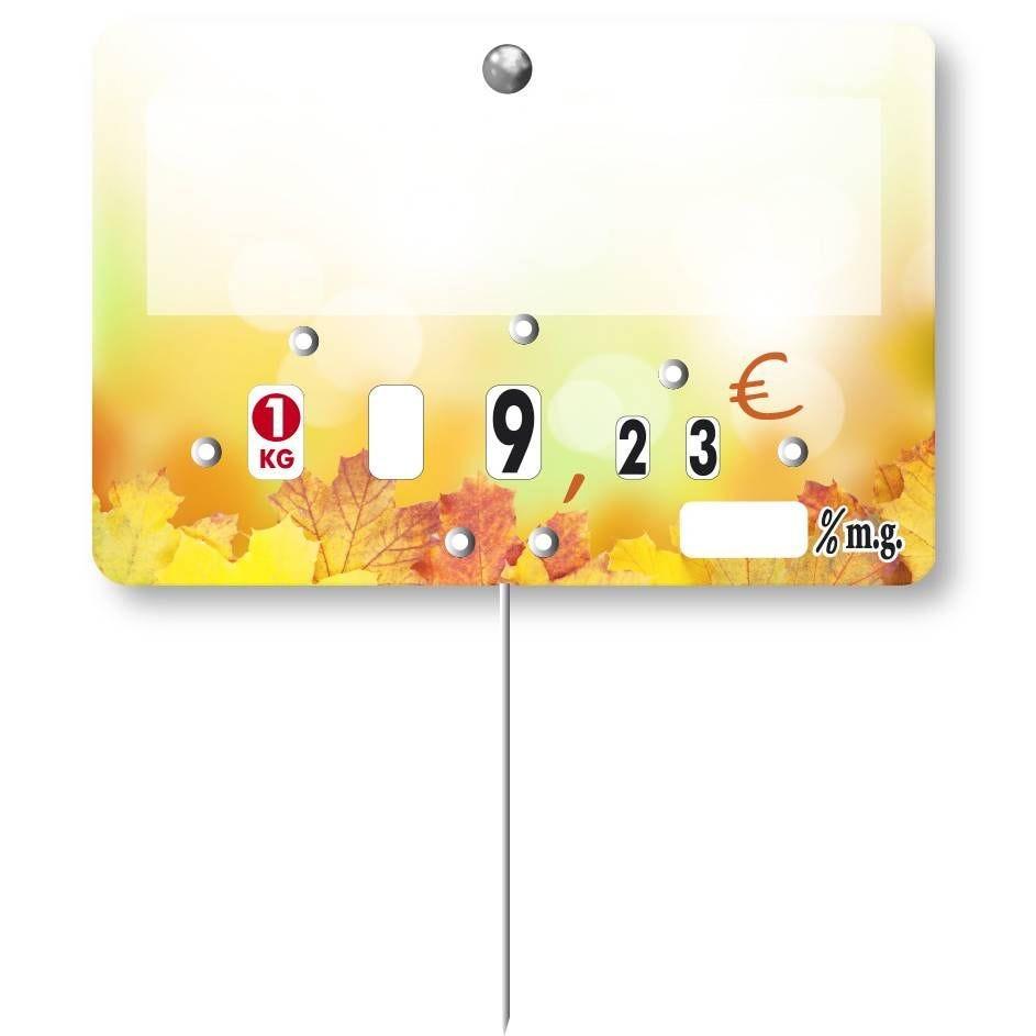 Etiquette à roulette pique-inox 'CANNELLE' neutre Multicolore 10,5x7cm par 10