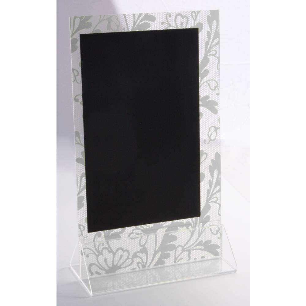 Présentoir de table 'DENTELLE' gris 15x25cm par 3