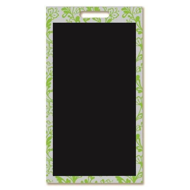Panneau amovible ardoisé à poignée 'DENTELLE' vert 40x69cm à l'unité