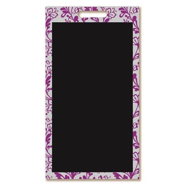 Panneau amovible ardoisé à poignée 'DENTELLE' violet 40x69cm à l'unité