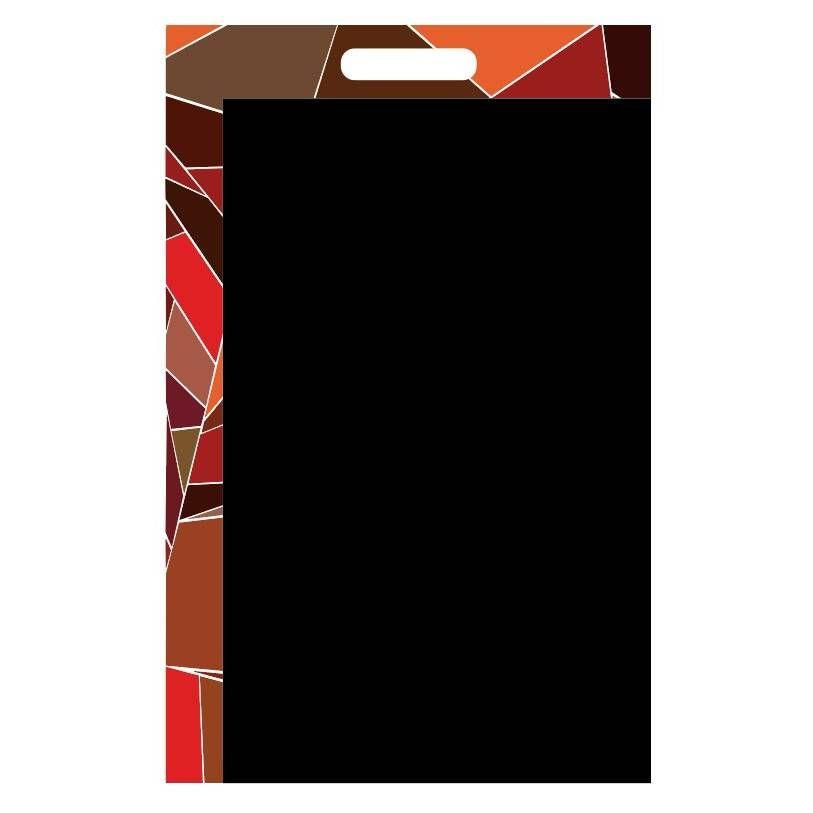 Panneau amovible ardoisé à poignée 'FRAGMENT' multicolore 60x80cm à l'unité