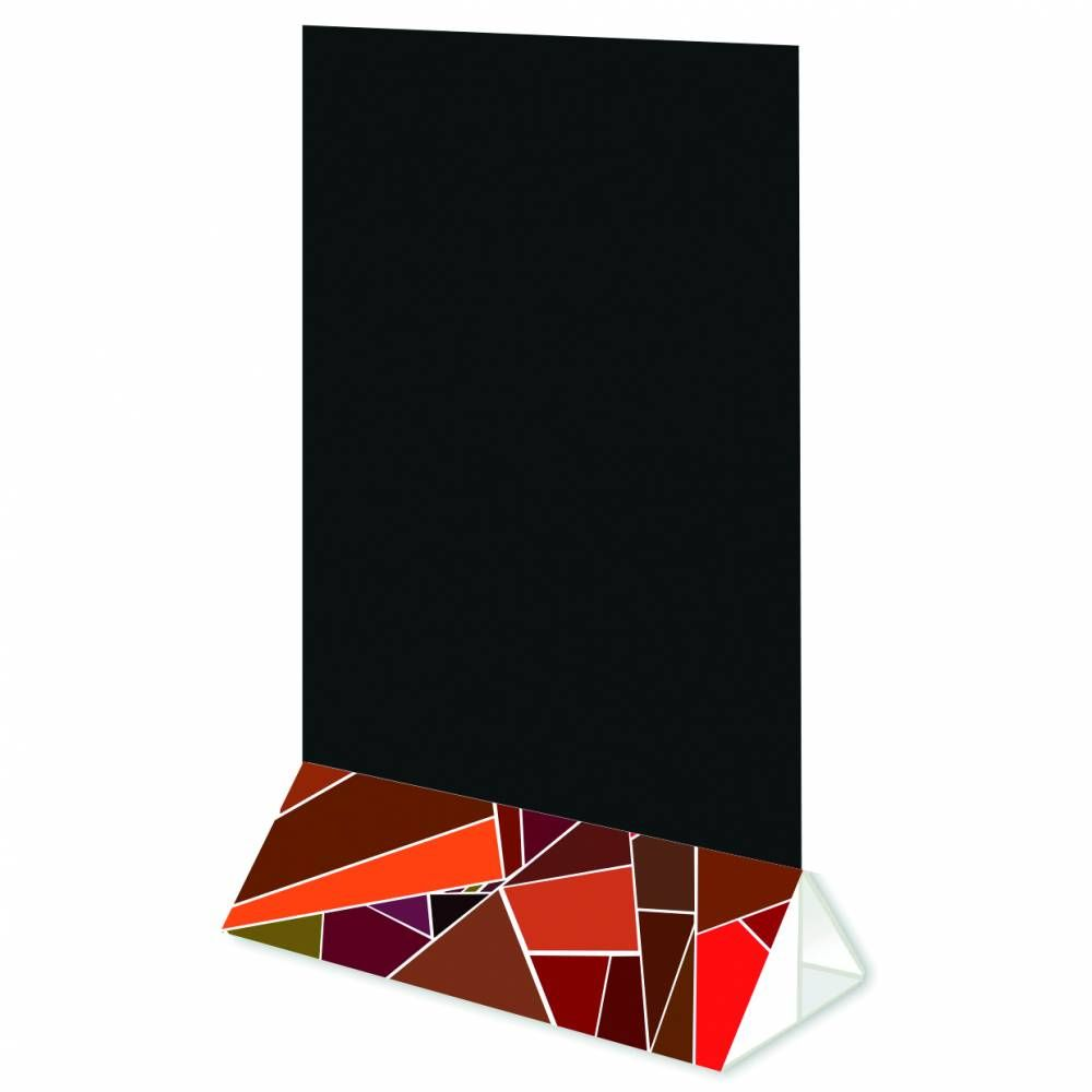 Pied socle 15x4x7,5 'FRAGMENT' multicolore 15x4cm par 3