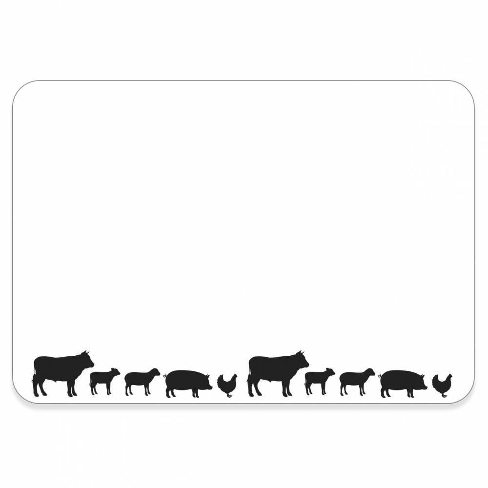 Etiquette sans attachement 'TOUT COMPRIX' boucherie blanc 10,5x7cm par 10