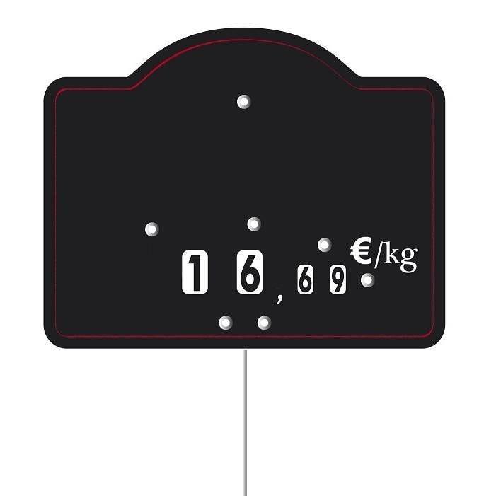 Etiquette à roulettes pique-inox 'MAESTRO' 12x9,5cm par 10