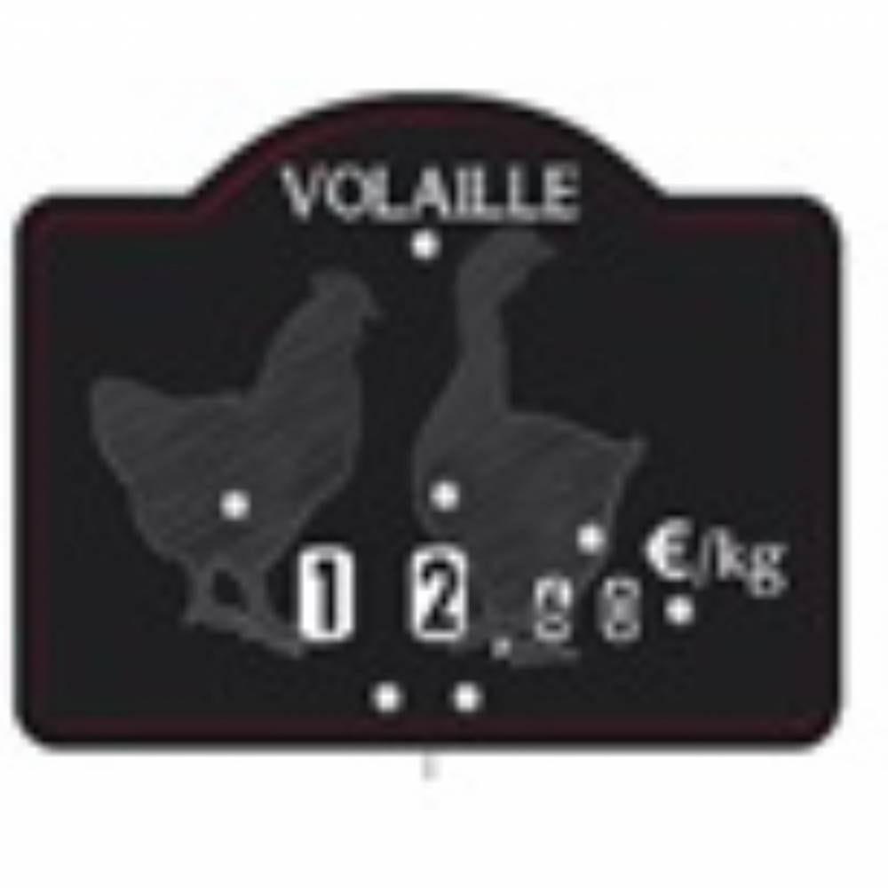 Etiquette à roulettes pique-inox 'MAESTRO' volaille noir 12x9,5cm par 10