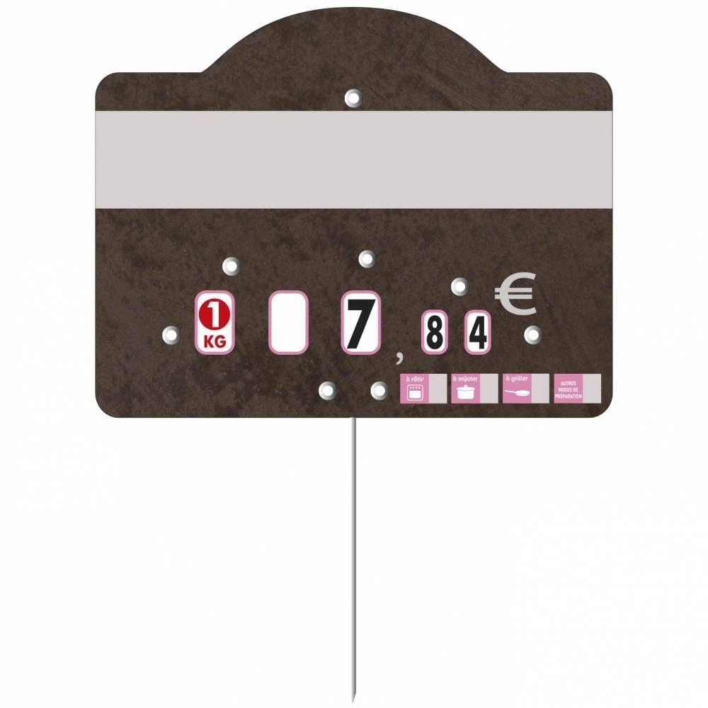 Etiquette à roulettes pique-inox 'TEMPO' 12x9,5cm par 10