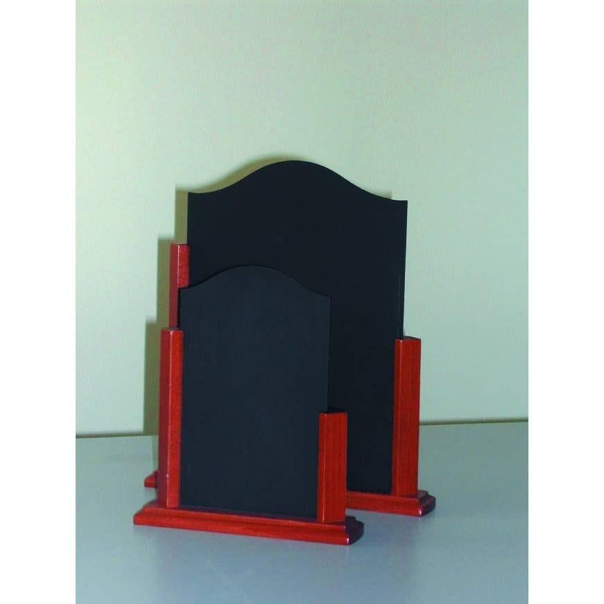 Présentoir de table support bois 'STILO' noir 15x22cm par 3