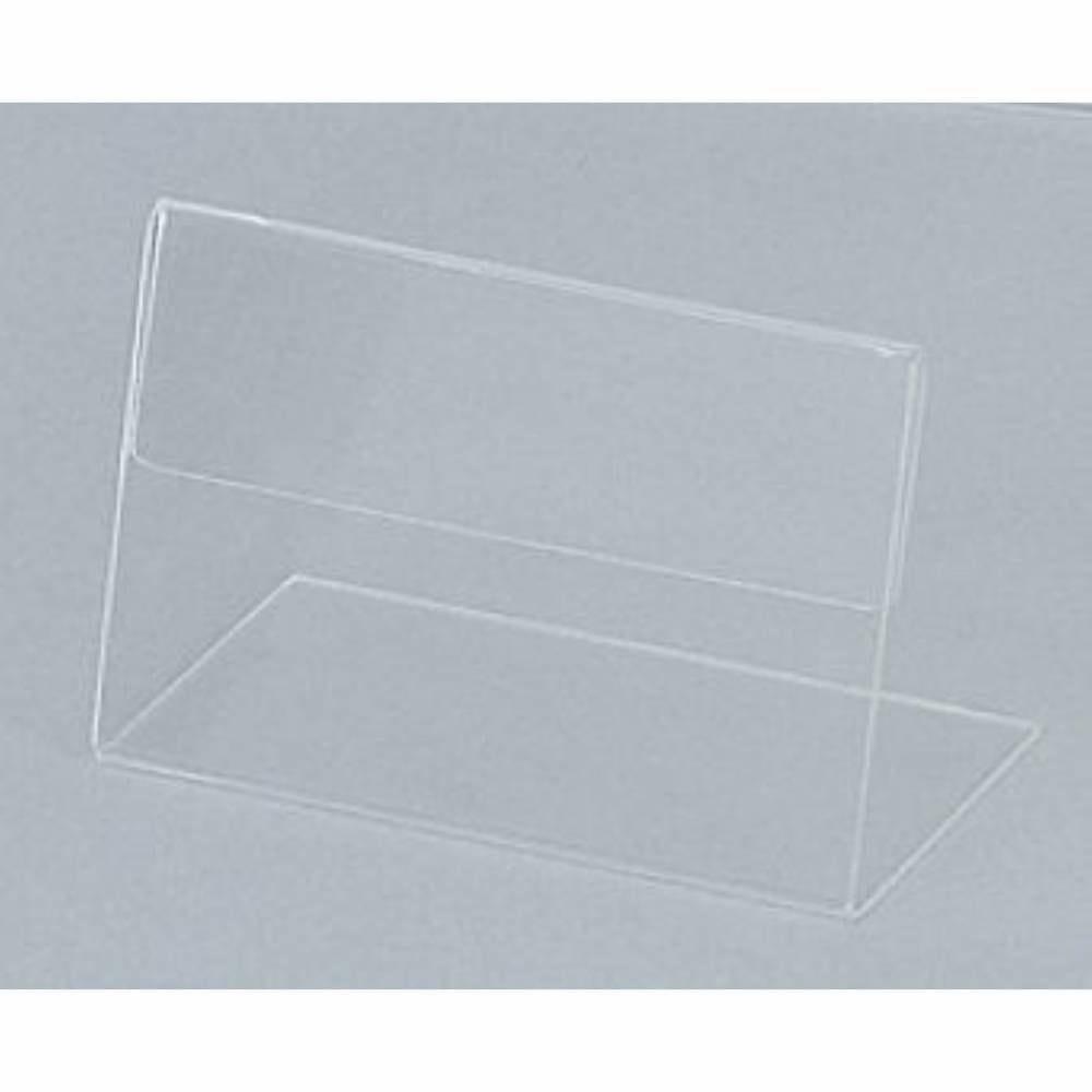 Présentoir de table socle plié à chaud intégré '(TBD)' transparent 10x7cm par 10