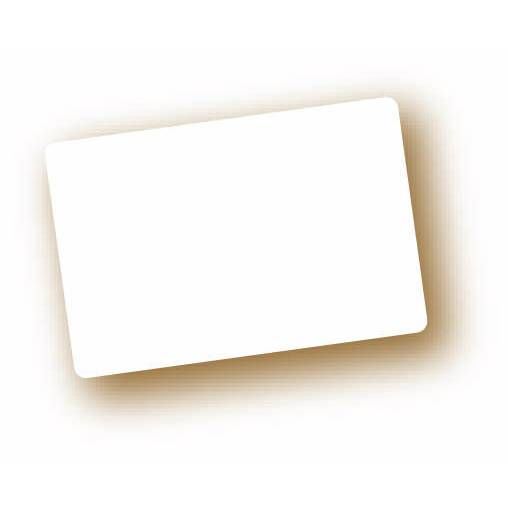 Etiquette simple sans attachement 'NEUTRE' blanc 6x4cm par 10