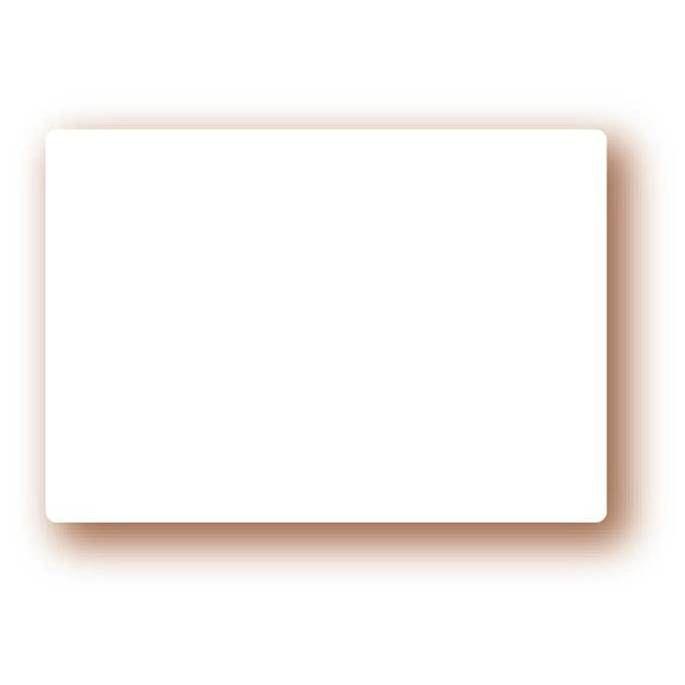 Etiquette simple sans attachement 'NEUTRE' blanc 8x6cm par 10