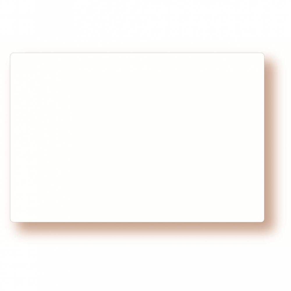 Etiquette simple sans attachement 'NEUTRE' blanc 12x8cm par 10
