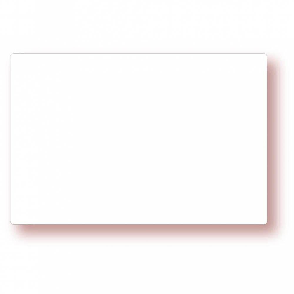 Etiquette simple sans attachement 'NEUTRE' blanc 15x10cm par 10