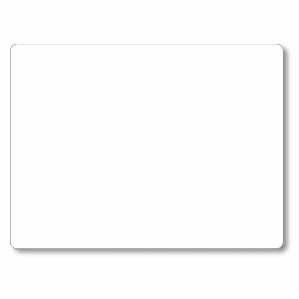 Etiquette simple sans attachement 'NEUTRE' blanc 20x15cm par 10
