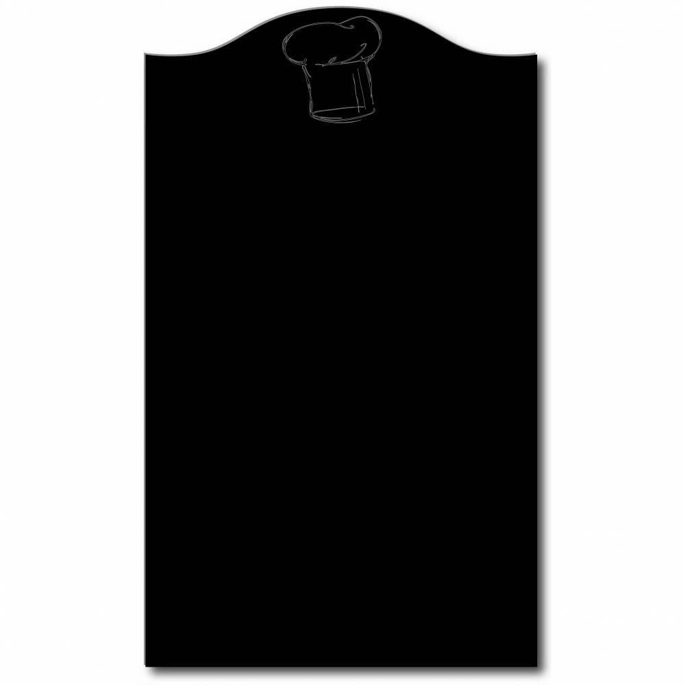 Panneau amovible ardoisé 'BRASSERIE' Toque noir 50x70cm à l'unité