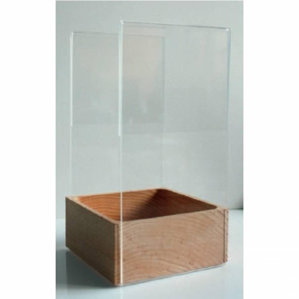 Boite pour affichage sur table 'BALTO' transparent 11,5x21cm par 3