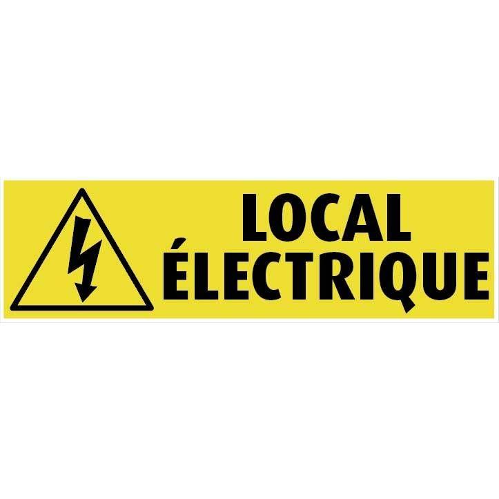 Plaque adhésive alu 'IMITATION ALU' Local électrique gris 17x5cm à l'unité