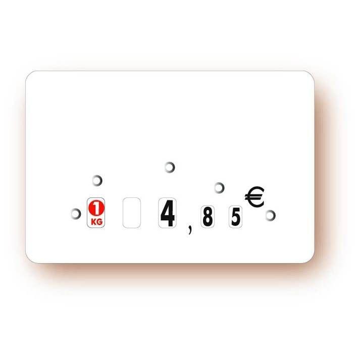 Etiquette à roulettes sans attachement 'NEUTRE' blanc 8x6cm par 10