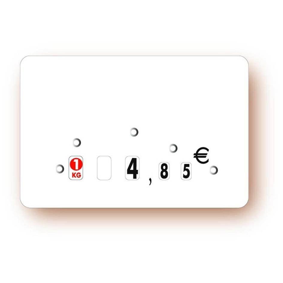 Etiquette à roulettes sans attachement 'NEUTRE' blanc 12x8cm par 10