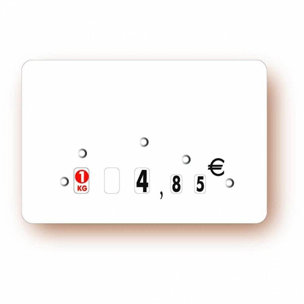 Etiquette à roulettes sans attachement 'NEUTRE' blanc 15x10cm par 10