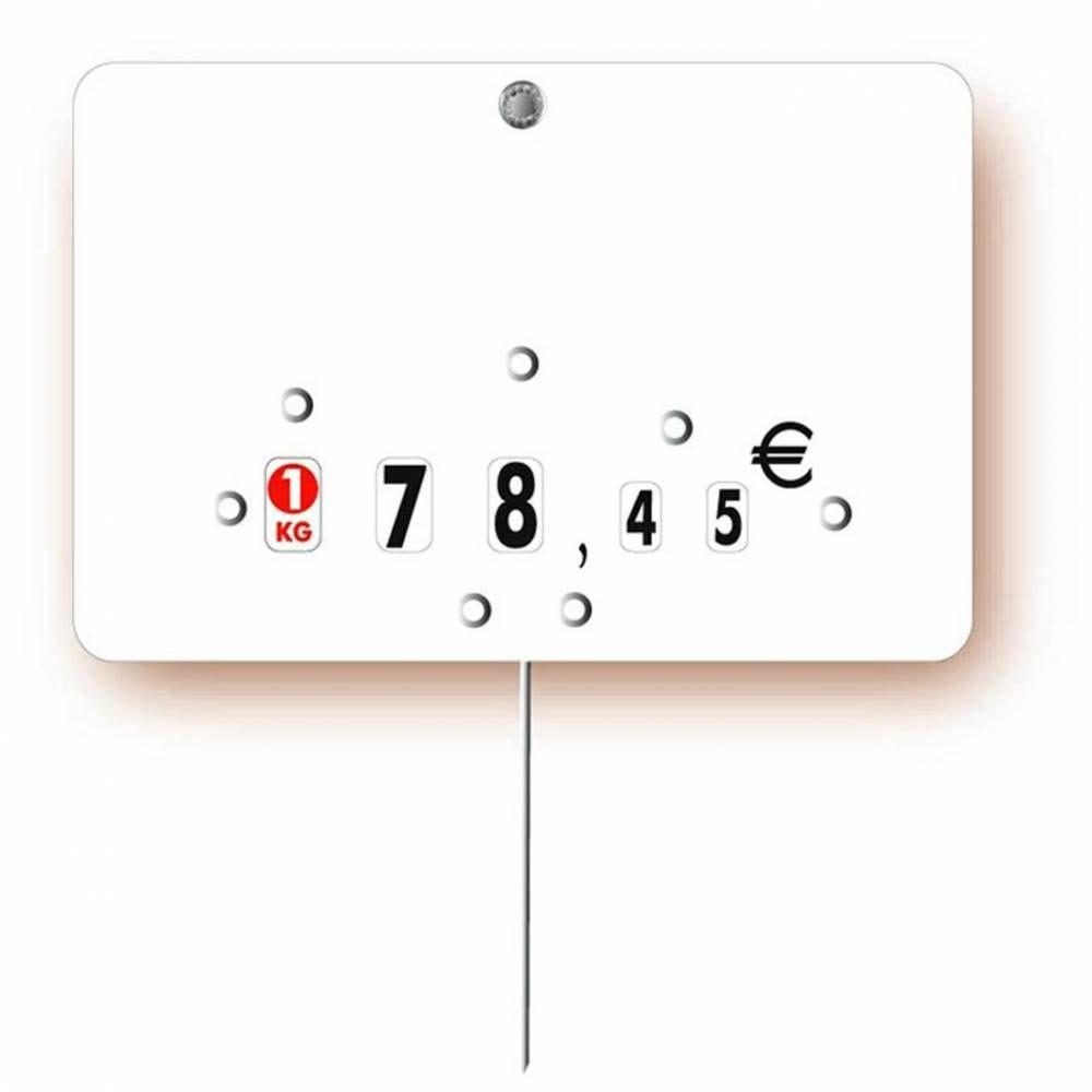 Etiquette à roulettes pique-inox 'NEUTRE' blanc 15x10cm par 10