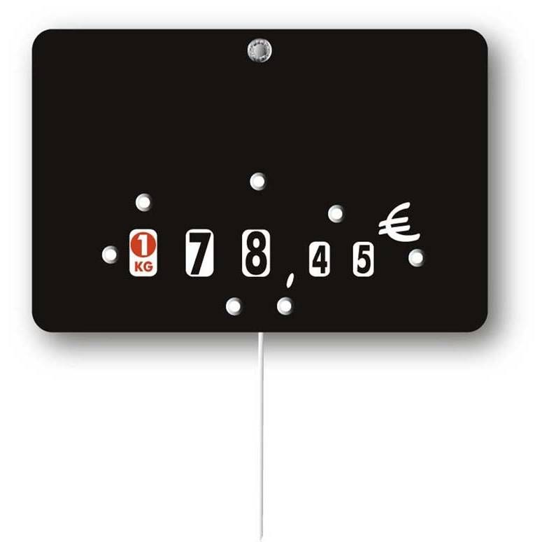 Etiquette à roulettes pique-inox 'NEUTRE' noir 10,5x7cm par 10