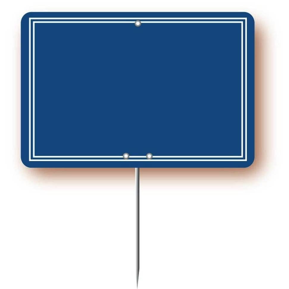 Etiquette simple pique-inox 'ARDOISINE' bleu 12x8cm par 10