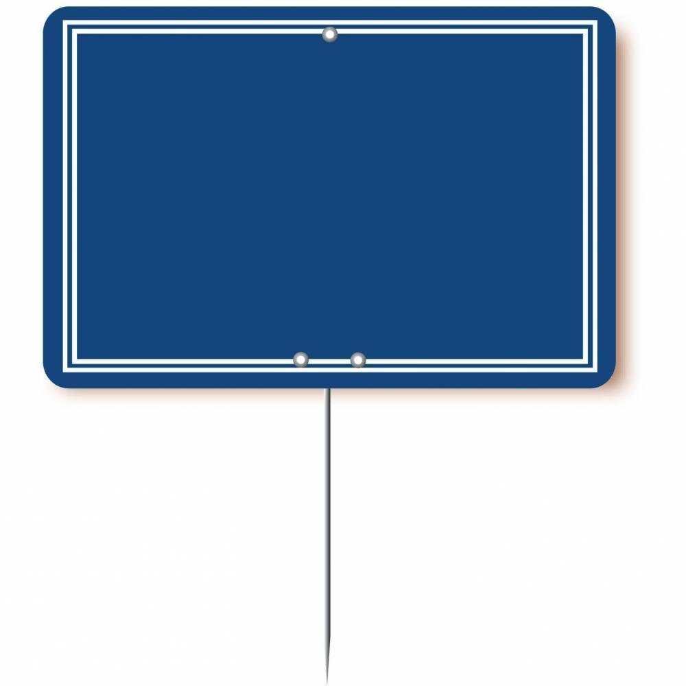 Etiquette simple pique-inox 'ARDOISINE' bleu 20x15cm par 10