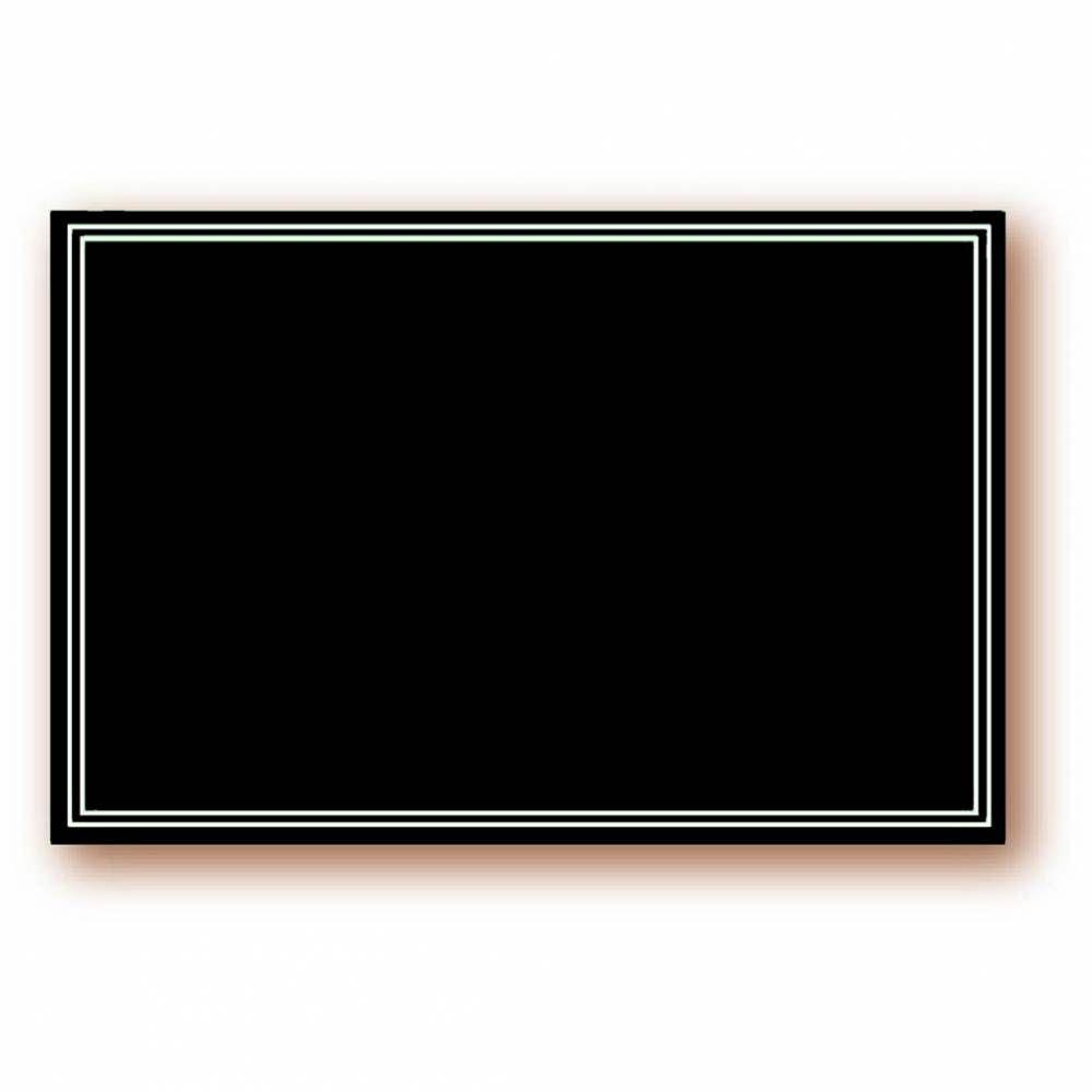 Etiquette simple pique-inox 'ARDOISINE' noir 24x16cm par 10