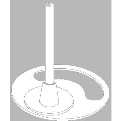 Pied-tube hauteur 7cm blanc xcm par 25